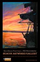 San Diego Harbor Sunset by RD Riccoboni™ Poster