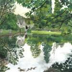 """Frampton Mansel cotswold landscapes"" by Rachelpeglerartworks"
