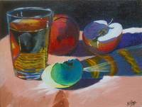 Apples and Glass #6 - Completed