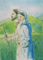 Mary and Joseph on the Road to Bethlem