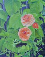 Painting#20 - Orange Flowers