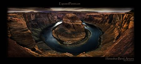 Panorama: Horseshoe Bend of the Colorado River, Ar