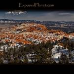 """Panorama of Bryce Canyon at sunset in Winter, Utah"" by ExposedPlanet"