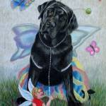 """Butterfly and Fairy on Canvas"" by dog-art"