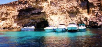 Tourist Boats at Sea Cave