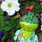 """Frog and Flowers"" by eye4nature"