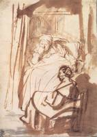 Woman in Bed with a Visitor