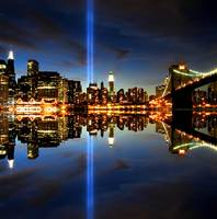 Tribute in Light over NYC
