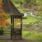"""Gazebo with Azaleas"" by poetryoflight"