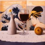 """Wine Glass & Japanese Prints"" by danielmontoya"