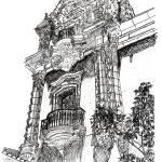 """Balboa Park Architecture drawing by Riccoboni"" by RDRiccoboni"