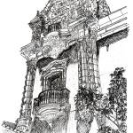 """Balboa Park Architecture drawing by Riccoboni"" by RDRiccoboni"