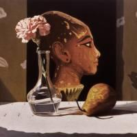Pink Carnation & Egyptian Head Art Prints & Posters by Daniel Montoya