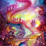 """GARDEN OF THE LOST SHADOWS / MYSTIC STAIRS"" by BulganLumini"