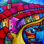 """""""COLOUFUL PORT OF CORRICELLA - ITALY"""" by saracatenacolorfulart"""