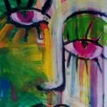 """ESMERALDA  Acrylic on stretched canvas 350 x 520 m"" by saracatenacolorfulart"