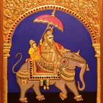 """Maharaja on Elephant"" by tanjore"