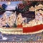 """Krishna Boat"" by tanjore"
