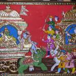 """Mahabaratha Ramayana"" by tanjore"