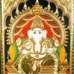 """Vinayaka Ganapati Hindu Elephant God"" by tanjore"