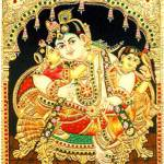 """Krishna Hindu God"" by tanjore"