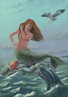 mermaid on rock