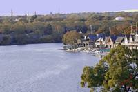 Overlooking Boathouse Row - Phildelphia, Pa