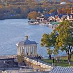 """Overlooking Boathouse Row from Art Museum"" by jcarcreations"