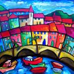 """MENTON, COTE DAZUR  -  FRANCE"" by saracatenacolorfulart"
