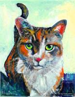 Hello There, Cat Portrait of Kate by RD Riccoboni