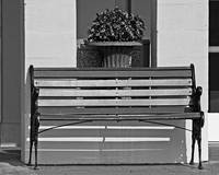 Chateau Elan Bench B&W