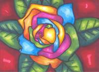 RAINBOW ROSE OF HOPE
