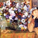 """A Woman Seated Beside a Vase of Flowers"" by ArtLoversOnline"