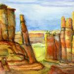"""Arches National Park:  Watercolor and Ink"" by Lenora"