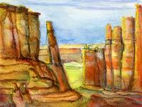 Arches National Park:  Watercolor and Ink