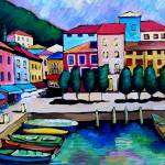 """""""SUMMER  IN MALCESINE - FRANCE"""" by saracatenacolorfulart"""