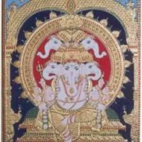 Vinayaka Ganapati Hindu Elephant God Art Prints & Posters by Vishal Narayanaswamy