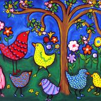 """Birdies and Blossoms"" by Renie Britenbucher"