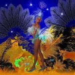 """Celebration Showgirl In Blue"" by shanmaree"