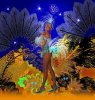 Celebration Showgirl In Blue