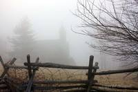 Dahlgren Chapel behind the South Mountain Fog