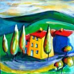 """""""TUSCAN FARM  - ITALY"""" by saracatenacolorfulart"""