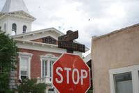 Stop Sign in Tombstone
