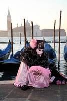 Pink and Black Ruffles Across San Giorgio