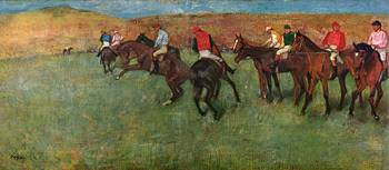 Horse Running Before the Start