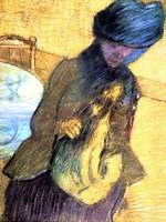 Mary Cassatt with a Little Dog