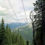 """Climbing Sulphur Mountain, High Rockies,1993"" by PriscillaTurner"