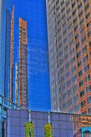 Wells Fargo bank  KPMG tower  reflection
