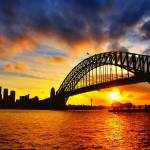 """Sydney Harbour Bridge Sunset"" by chan"