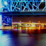 """JAX Acosta Bridge under Main St Bridge - Enhanced"" by Willboy22"